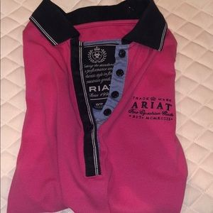 XS pink ariat polo